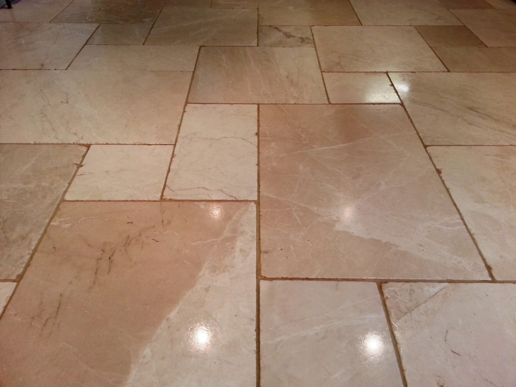Limestone Tile After Restoration