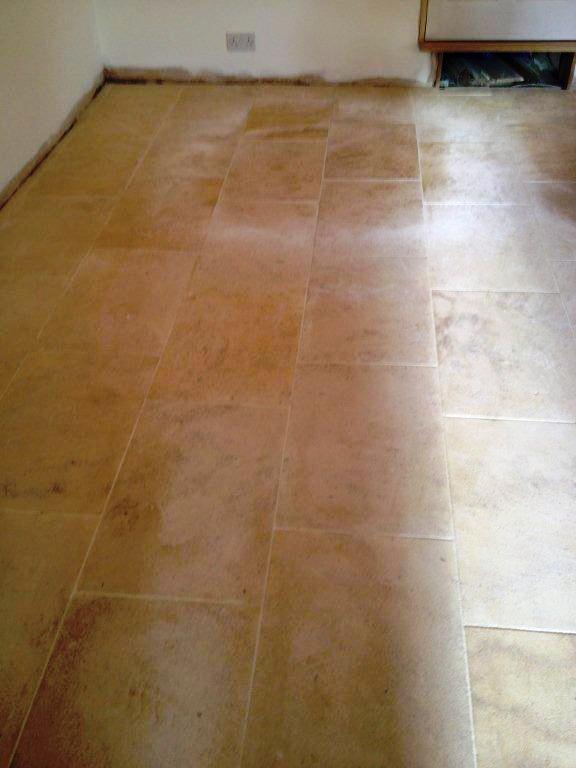Grout Haze Removed From Limestone Stone Cleaning And