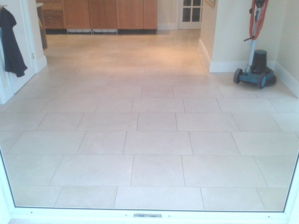 Limestone Floor Before Cleaning and Polishing Oswestry