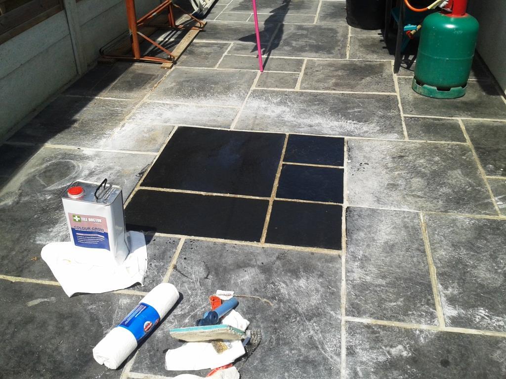Restoring Colour to Black Limestone